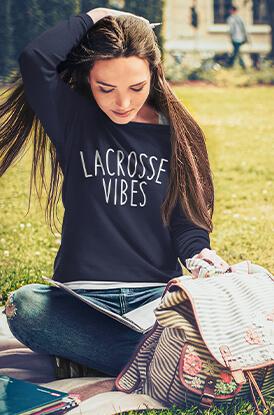 Lacrosse Vibes Crew Neck Sweatshirt